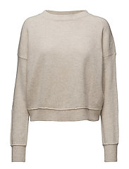 Cropped Lambswool Pullover - OFF WHITE