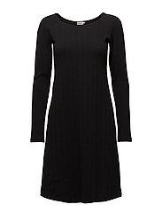 Open Neck Dress - BLACK