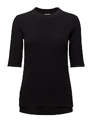 Wool/Cashmere Rib T-shirt - EVENING