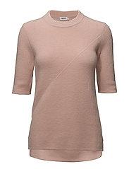 Wool/Cashmere Rib T-shirt - TEAROSE