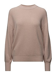 Wool/Cashmere Rib Pullover - TEAROSE