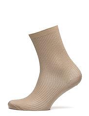 Silk Rib Sock - DUNE