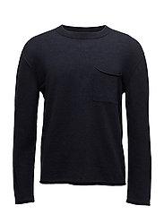 M. Cotton Linen Light Knit - NAVY