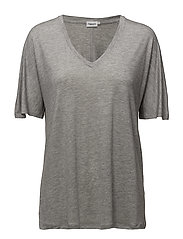 V-Neck Swing Top - GREY MEL.