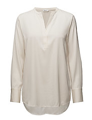Pull-on Silk Blouse - CREAM