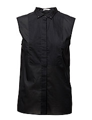 Tuxedo Sleeveless shirt - BLACK