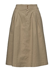Flared Pleat Skirt - BAMBOO