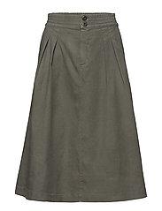 Flared Pleat Skirt - SAGE