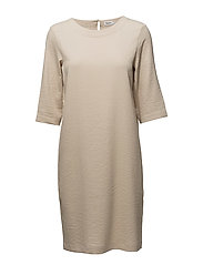 Textured Tee Dress - BONE