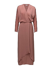 Drapey Wrap Dress - SALMON