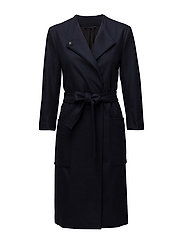 Blair Belt Coat - NAVY