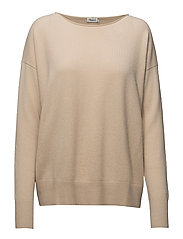 Relaxed Cashmere Sweater - BONE