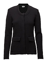 Structured Cardi Jacket - BLACK