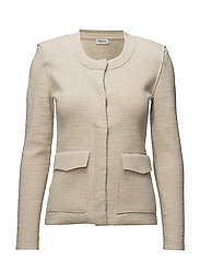 Structured Cardi Jacket - BONE MEL.
