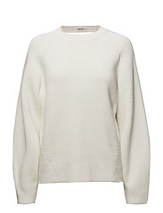 Sculptural Cotton Sweater - CREAM