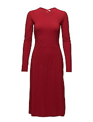 Flared Seam Dress - ROUGE