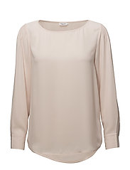 Pintuck  Blouse - CHAMPAGNE