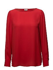 Pintuck  Blouse - ROUGE