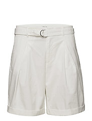 Madison Belted Shorts - WHITE