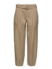 Madison Belted Trousers - BAMBOO