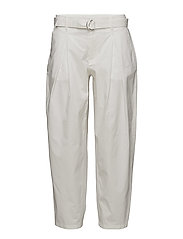 Madison Belted Trousers - WHITE