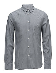 M. Pierre Houndstooth Shirt - BLUE/SALT