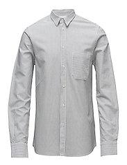 M. Pierre Stripe Shirt - BLACK/WHIT