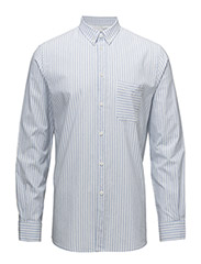 M. Peter Striped Shirt - SKYWAY/ WHITE