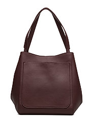 Shelby Bucket Leather Bag - BORDEAUX