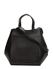 Shelby Mini Bucket Leather Bag - BLACK