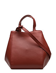 Shelby Mini Bucket Leather Bag - BRICK