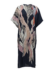 Printed Kaftan Dress - FLOWY PRIN