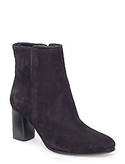 Billie Zip Boot - BLACK SUED