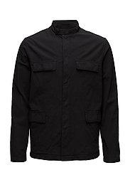 M. Saul Seersucker Jacket - BLACK