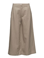 Max Cropped Wide Trousers - HEMP