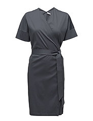 Belted Wrap Dress - PIGEON