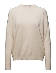 Relaxed Merino Sweater - BONE