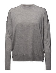 Relaxed Merino Sweater - LIGHT GREY