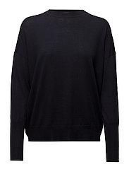 Relaxed Merino Sweater - NAVY