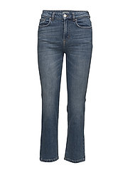 Stella Cropped Mid Blue Denim - VINTAGE SU