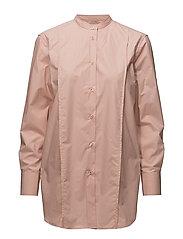 Band Collar Long Shirt - PETAL