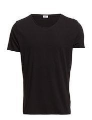M. Lt. Single Jersey Roll Edge Tee - BLACK