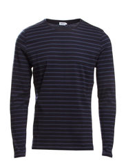 M. Striped Cotton L/S - Navy/Dk. Sea Mel.