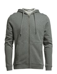 M. Cotton Hood Jacket - Grey Mel.