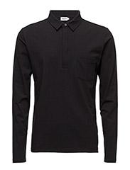 M. Soft Lycra Poloshirt - BLACK