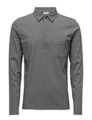 M. Soft Lycra Poloshirt - GREY MEL.