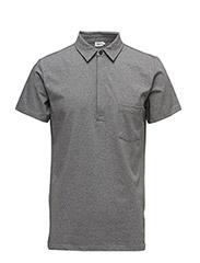 M. Soft Lycra S/S Poloshirt - GREY MEL.
