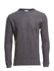 M. Boiled Wool Sweater - Granite Mel.