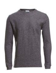 M. Boiled Wool Sweater - Granite Mel.