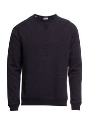 M. Tweed Sweatshirt - Navy/Ivory